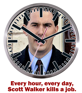 Scott Walker's Job-Killing Clock